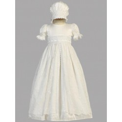Silk White Christening Gown