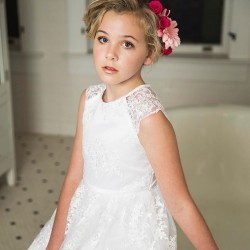 Lace communion dress with...